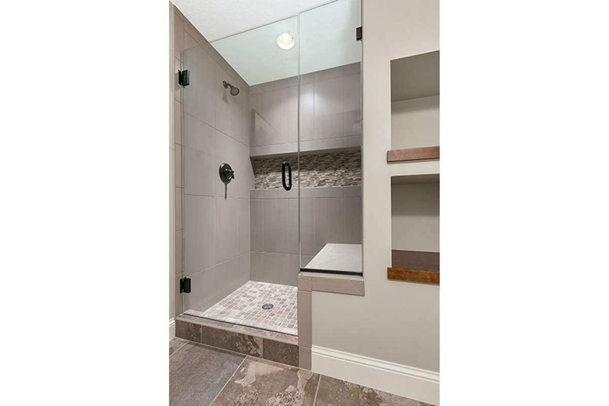 shower with built in seat